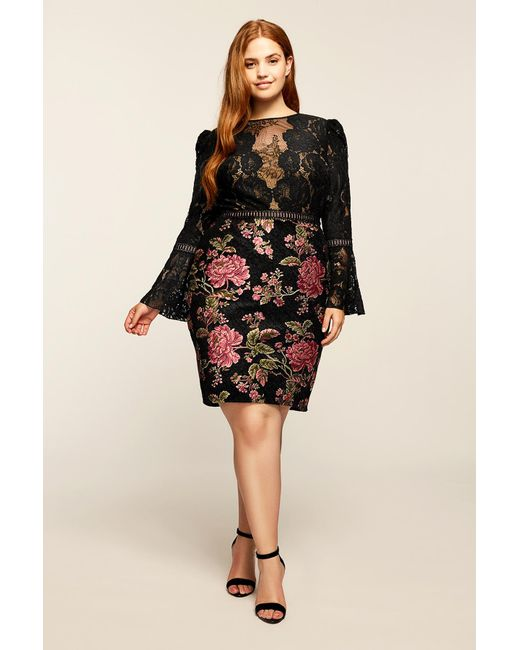 Tadashi Shoji | Black Isabella Dress - Plus Size | Lyst