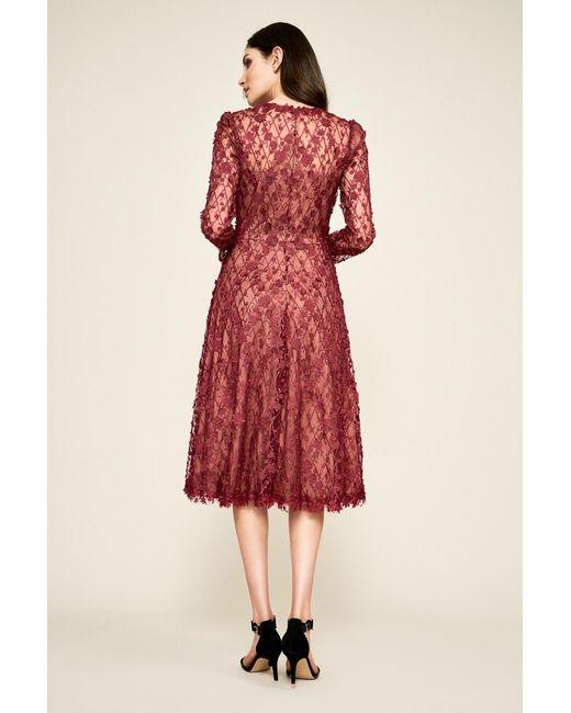 97b54c3ce9e24 ... Tadashi Shoji - Red Binx Embroidery Tea-length Dress - Lyst ...