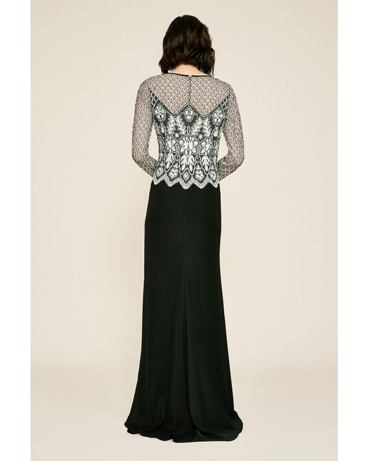 38b520d692 ... Tadashi Shoji - Multicolor Pavey Long-sleeve Sequin Embroidered Gown -  Lyst ...