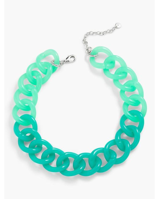 Talbots | Green Colorblocked Link Necklace | Lyst