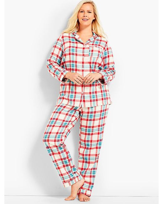 Talbots - Red Womans Exclusive Classic Plaid Sleep Set - Lyst