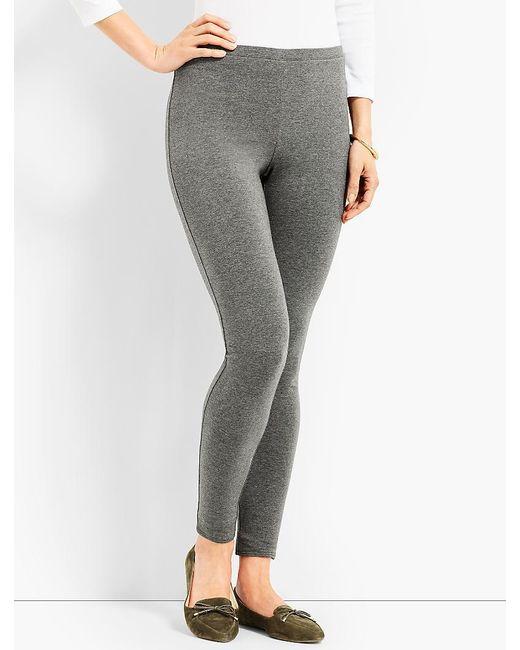 Talbots - Gray Basic Heathered Legging - Lyst
