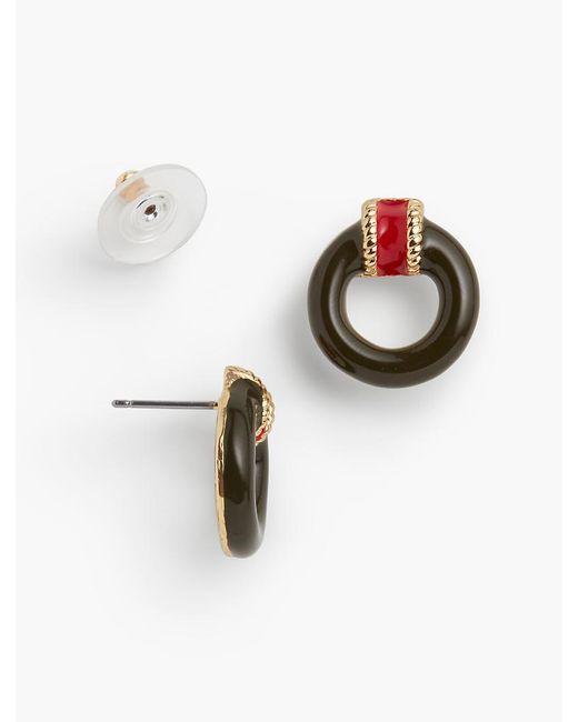 Talbots | Metallic Military-inspired Stripes & Ring Earrings | Lyst