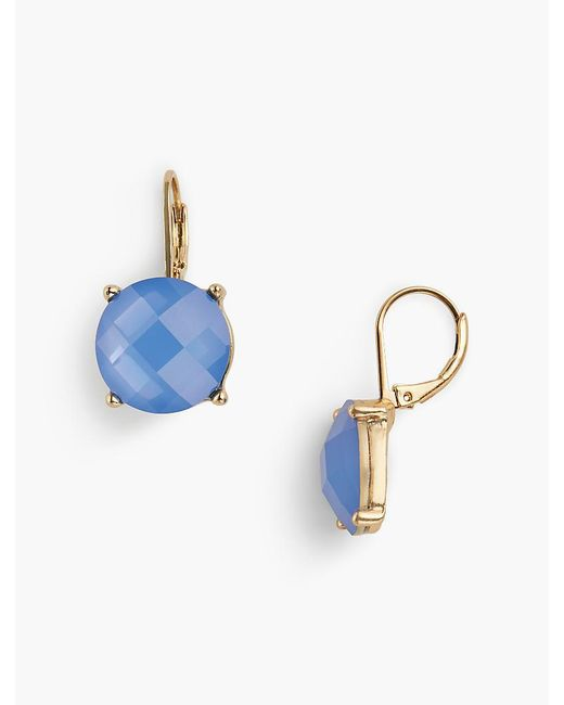 Talbots - Blue Faceted Bead Earrings - Lyst