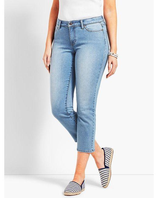 Talbots - Blue Denim Straight Leg Crop - Curvy Fit/jax Wash - Lyst