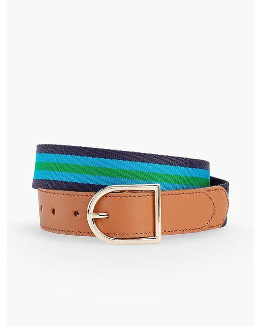 Talbots - Blue Striped Webbing Belt - Lyst