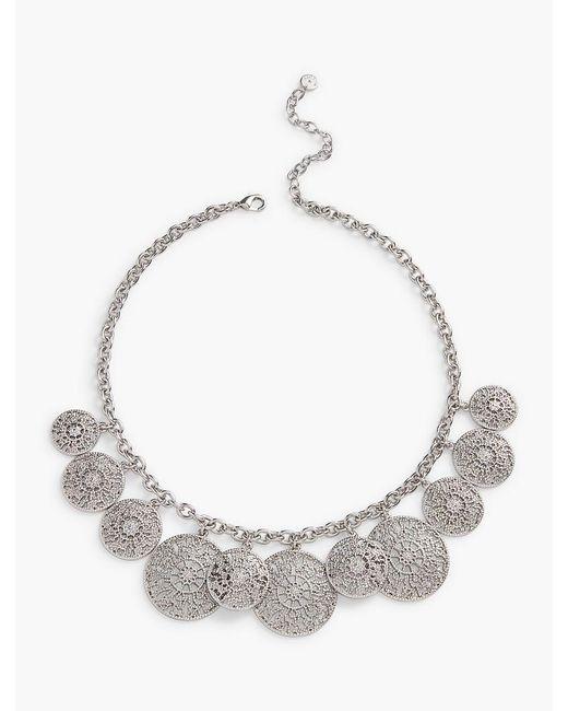 Talbots   Metallic Filigree-drop Necklace   Lyst