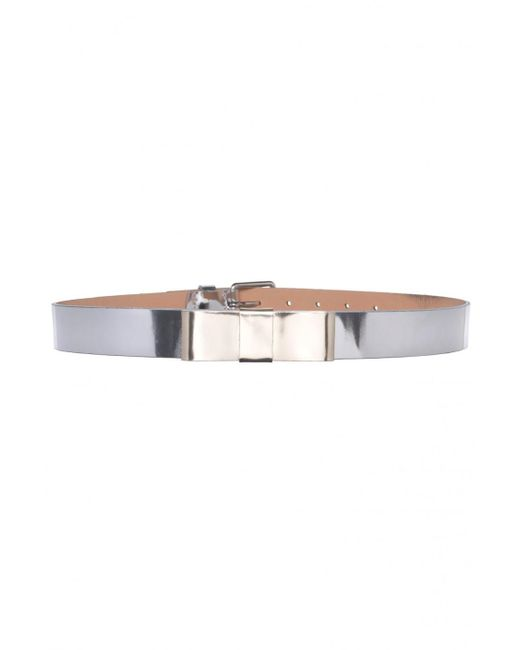 Tara Jarmon | Metallic Silver Waist Belt With Bow | Lyst