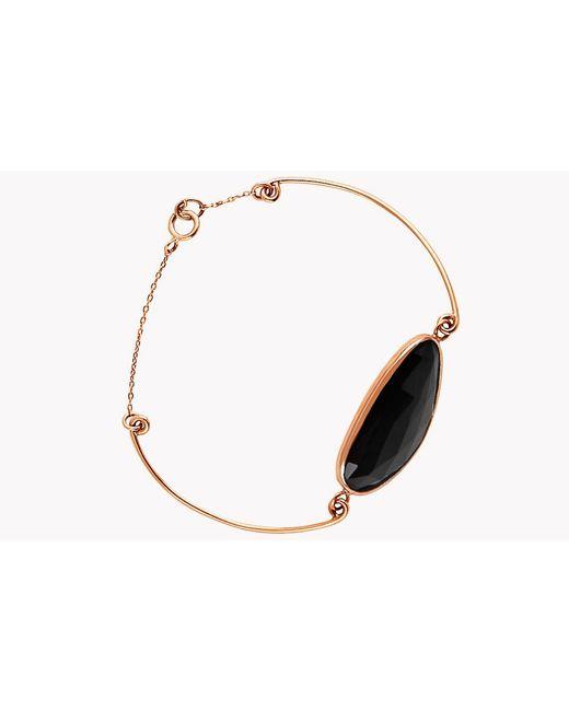 Tateossian | 14k Rose Gold Midnight Pebble Black Spinel Bracelet | Lyst