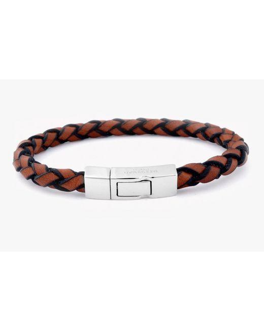 Tateossian | Brown Single Wrap Click Scoubidou for Men | Lyst