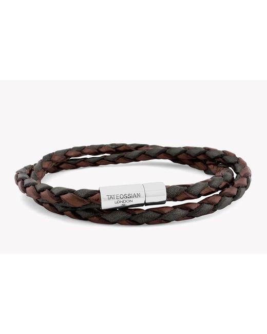 Tateossian   Brown Double Wrap Two-tone Pop Bracelet for Men   Lyst