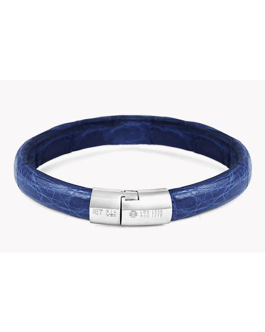 Tateossian | Blue Caiman Bracelet for Men | Lyst