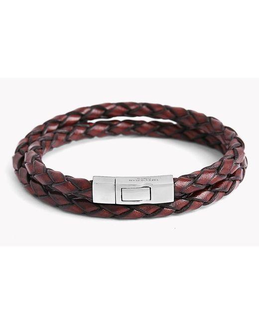Tateossian | Brown Double Wrap Scoubidou Leather Bracelet for Men | Lyst