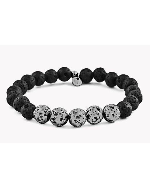 Tateossian   Black Asteroid & 5 Silver Beads Bracelet   Lyst