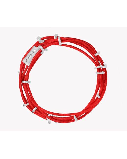 Tateossian   Red Capri Silver Friendship Bracelet   Lyst