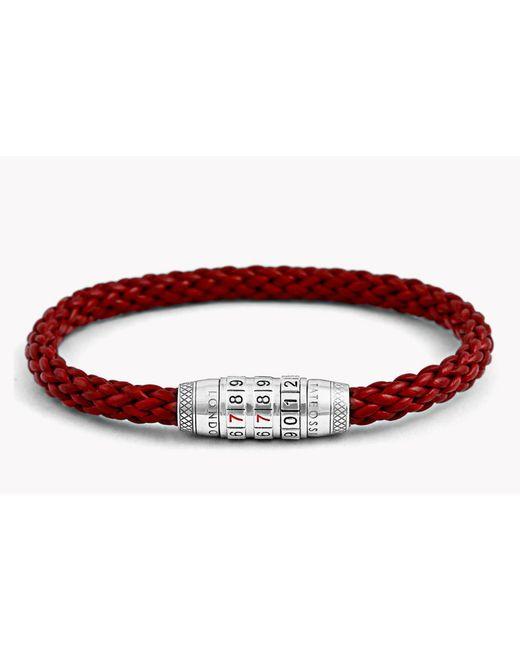 Tateossian | Red Combination Lock 777 Silver Bracelet for Men | Lyst