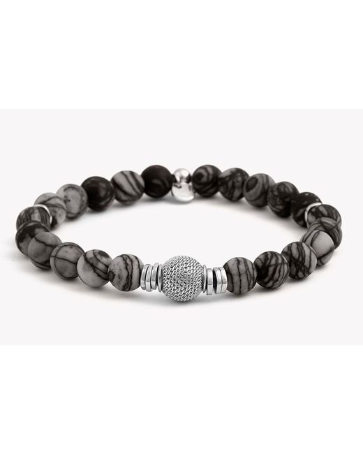 Tateossian | Gray Stonehenge Silver Bracelet for Men | Lyst