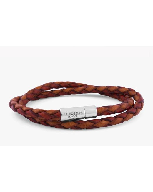 Tateossian - Red Double Wrap Two-tone Pop Bracelet for Men - Lyst