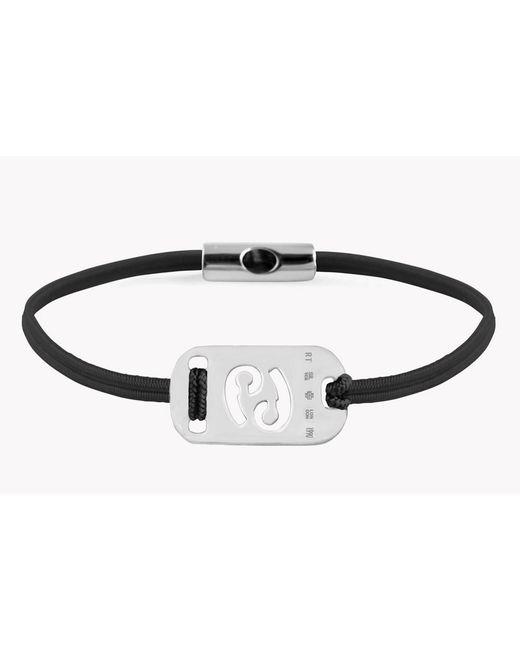 Tateossian - Black Zodiac Silver Cancer Bracelet - Lyst