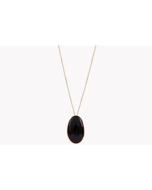 Tateossian - Metallic 14k Rose Gold Midnight Pebble Black Spinel Necklace - Lyst