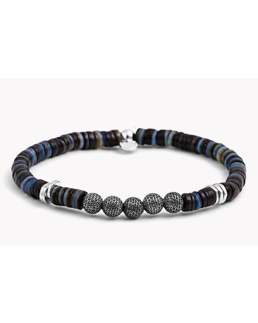 Tateossian | Blue Seychelles Mesh Silver Bracelet for Men | Lyst