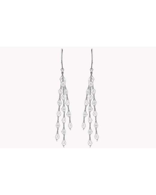 Tateossian | Metallic Liquid Diamonds Silver Earrings | Lyst