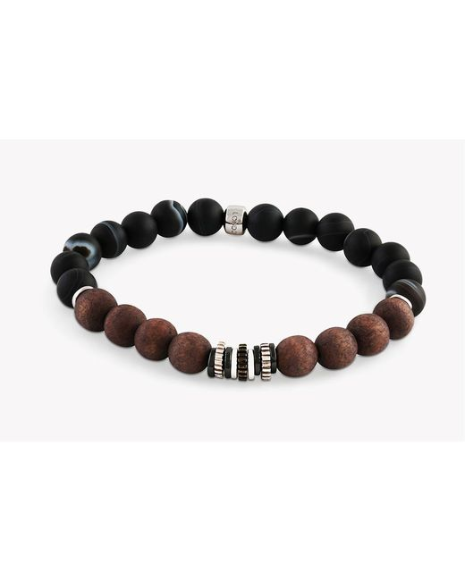 Tateossian - Black Java Frost Silver Bracelet for Men - Lyst