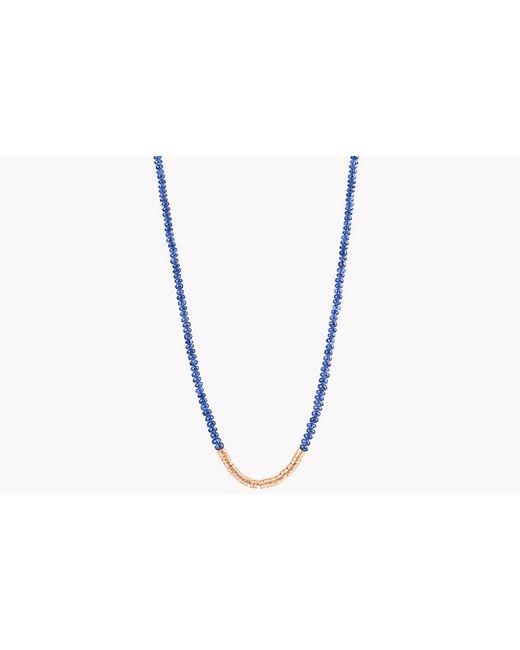 Tateossian | Metallic Bamboo Burmese Sapphire 18k Gold Necklace | Lyst