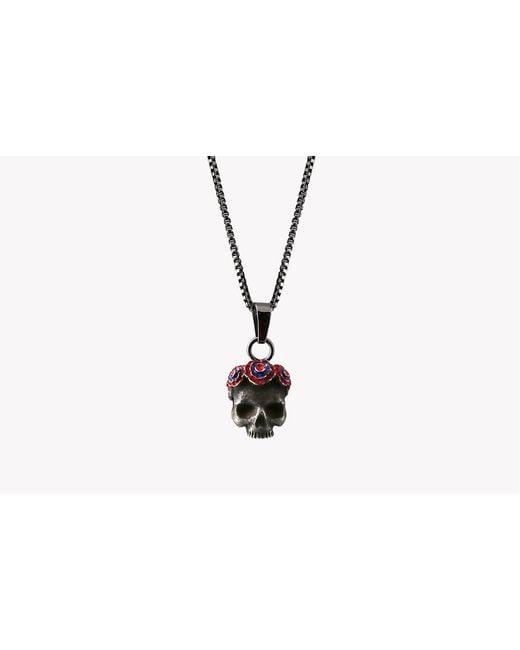 Tateossian - Gothic Rose Skull Pendant - Ip Black Plated Steel for Men - Lyst