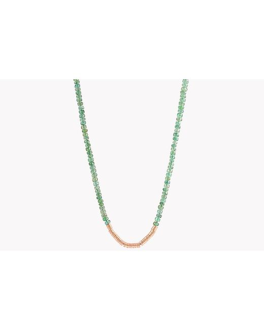 Tateossian - Metallic Bamboo Emerald 18k Gold Necklace for Men - Lyst