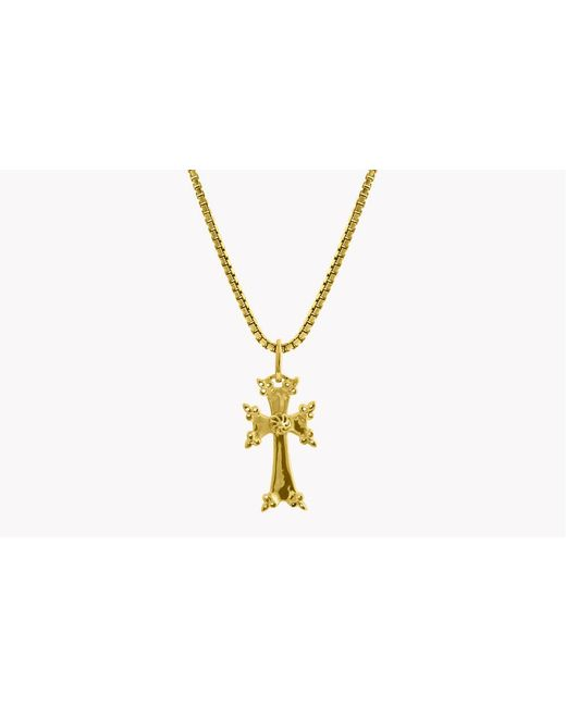 Tateossian - Metallic 18k Yellow Gold Plated Silver Armenian Cross Necklace for Men - Lyst