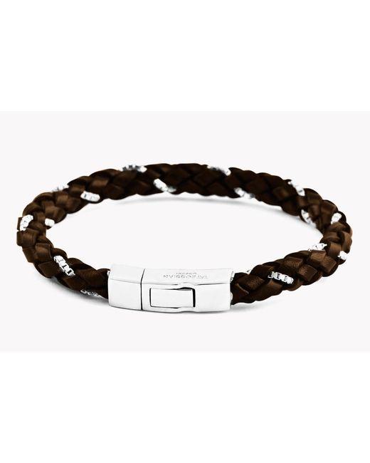 Tateossian - Click Scoubidou Weave Bracelet In Brown for Men - Lyst