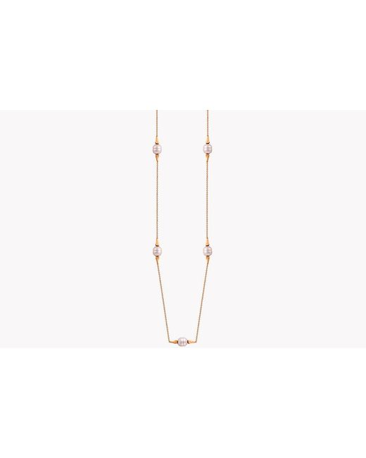 Tateossian - Metallic 18k Rose Gold South Sea Baroque Pearl Drop Necklace With 5 Pearls - Lyst