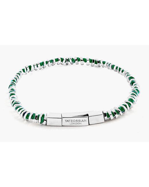 Tateossian - Green Mini Click Silver Beads Bracelet for Men - Lyst