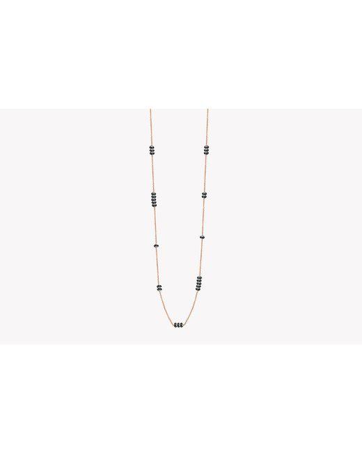 Tateossian | Metallic 18k Rose Gold Black Diamonds Necklace - (6.43ct) | Lyst