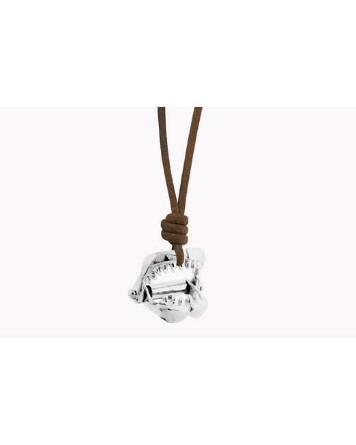 Tateossian | Brown Silver Shark Jaw Pendant for Men | Lyst