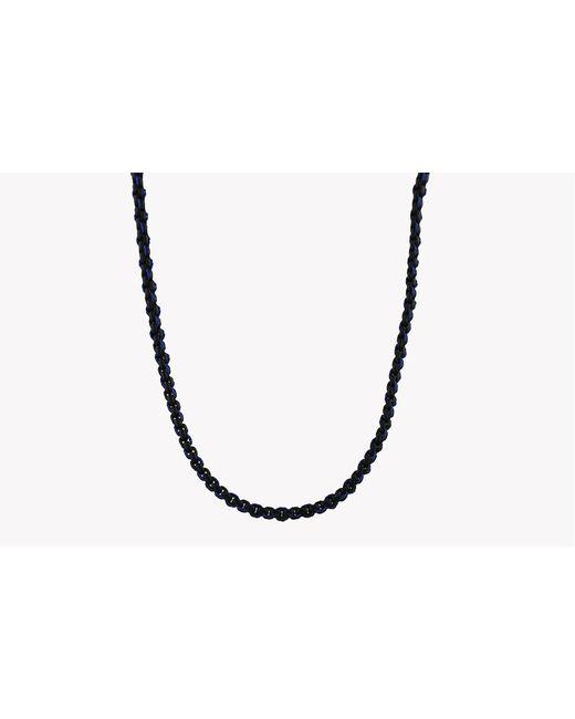 Tateossian - Blue Catena Weave Silver Necklace for Men - Lyst