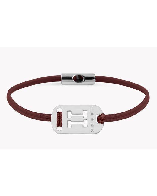 Tateossian - Metallic Zodiac Silver Gemini Bordeaux Bracelet for Men - Lyst