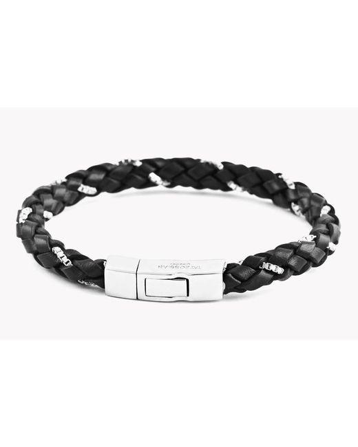 Tateossian - Click Scoubidou Weave Bracelet In Black for Men - Lyst