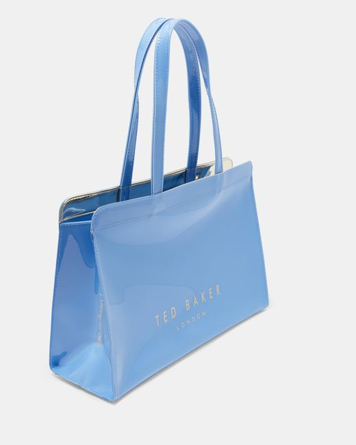 Ted Baker - Blue Contrast Bow Icon Bag - Lyst