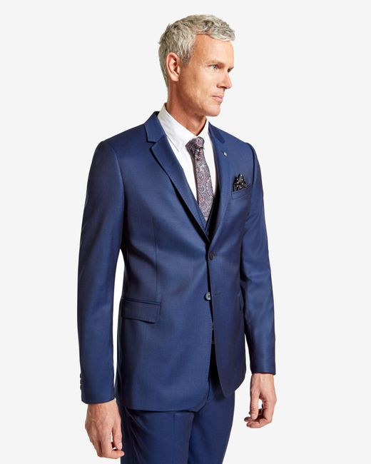 Ted Baker | Blue Wool Suit Jacket for Men | Lyst