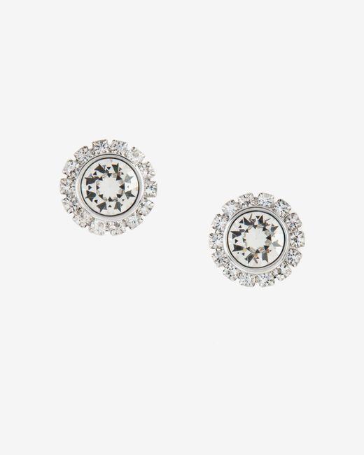 Ted Baker   Metallic Crystal Daisy Stud Earrings   Lyst