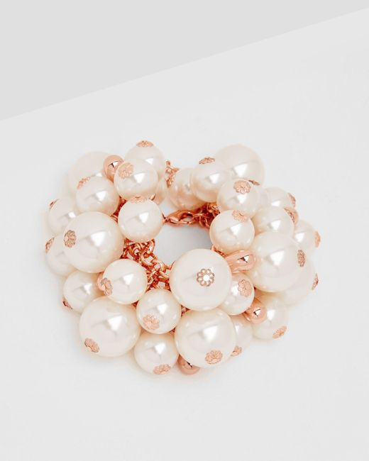 Ted Baker | White Pearl Cluster Bracelet | Lyst