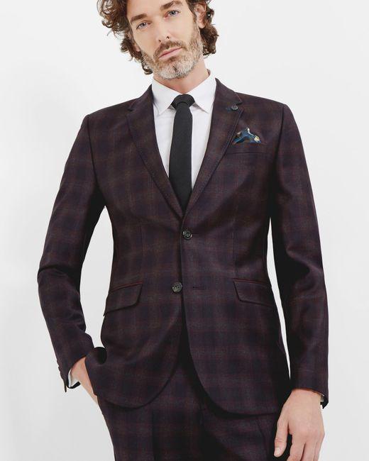 Ted Baker | Black Yonkwai Checked Wool Waistcoat for Men | Lyst