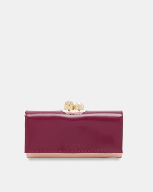 Ted Baker | Purple Pearl Bobble Leather Wallet | Lyst