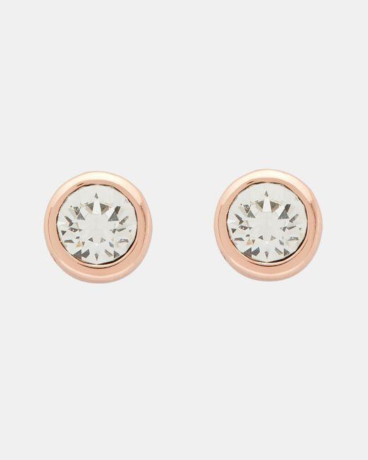 Ted Baker - Metallic Swarovski Crystal Stud Earrings - Lyst