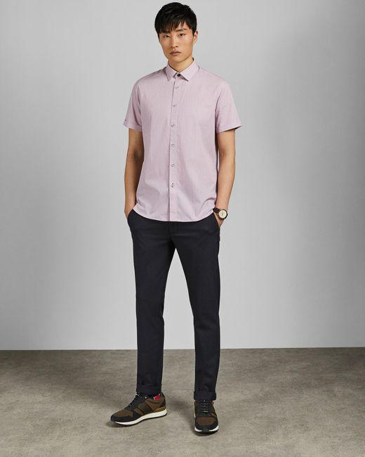 e22010e1681f Ted Baker - Pink Rectangle Geo Print Cotton Shirt for Men - Lyst ...