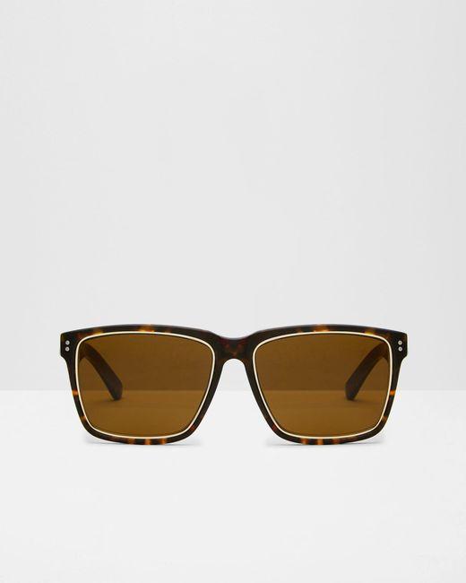 Ted Baker | Brown Rectangular Sunglasses for Men | Lyst