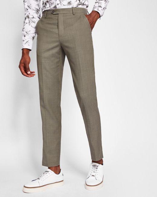 Debonair Plain Wool Suit Trousers Ted Baker LnUQ3Y0gb