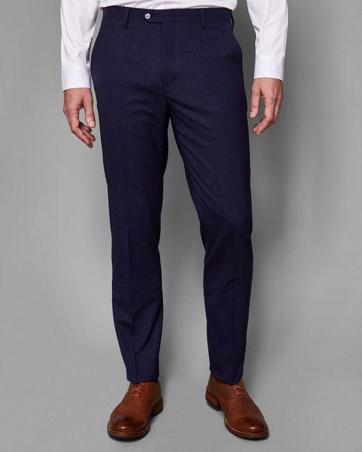 Ted Baker - Blue Debonair Checked Wool Suit Trousers for Men - Lyst